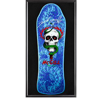 Bones Brigade Shadowbox McGill Blem Blue Skateboard Deck Signed by Mike