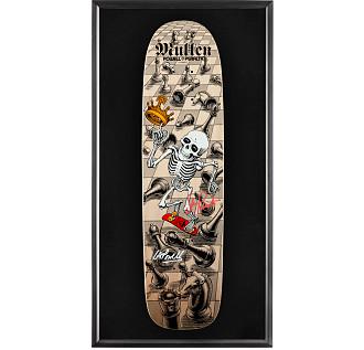 Bones Brigade Shadowbox Mullen Blem Natural Skateboard Deck Signed by GAP/Stacy