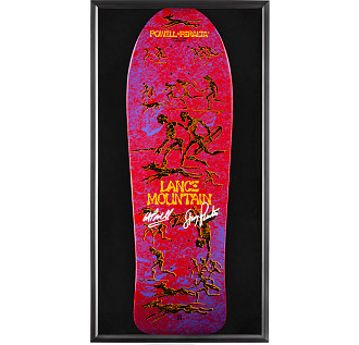 Bones Brigade Shadowbox Mountain Blem Red Skateboard Deck Signed by GAP/Stacy