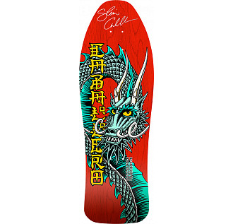 Bones Brigade Caballero Blem Skateboard Red Deck Signed by Cab